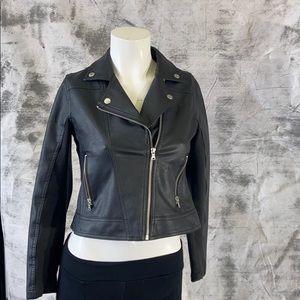 Justice vegan leather biker jacket-12 girls